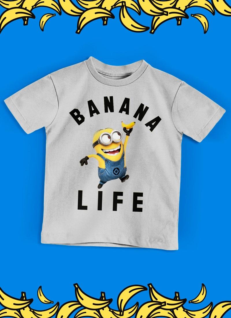 Camiseta Infantil Minions Banana Life