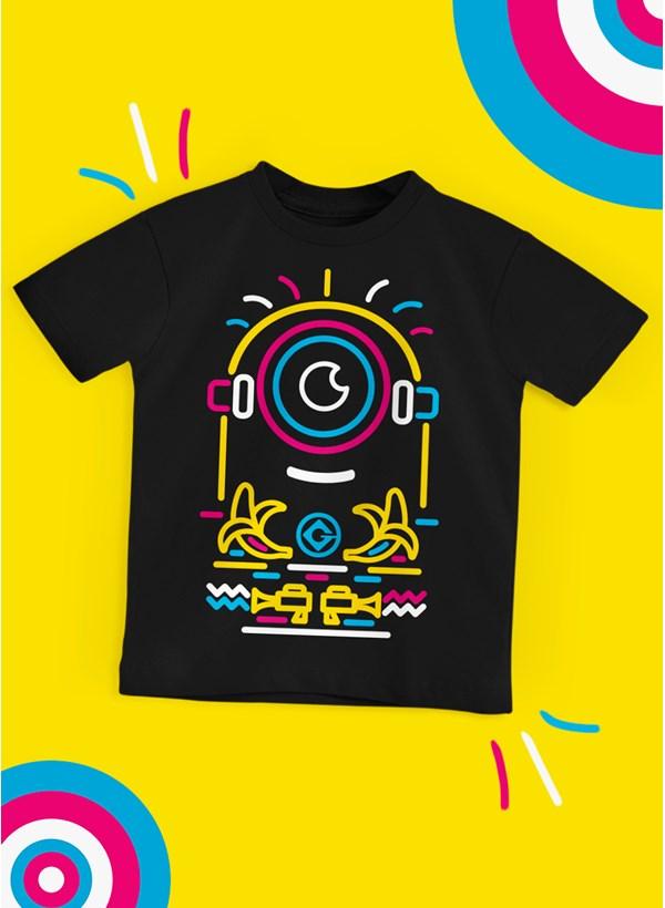 Camiseta Infantil Minions Neon