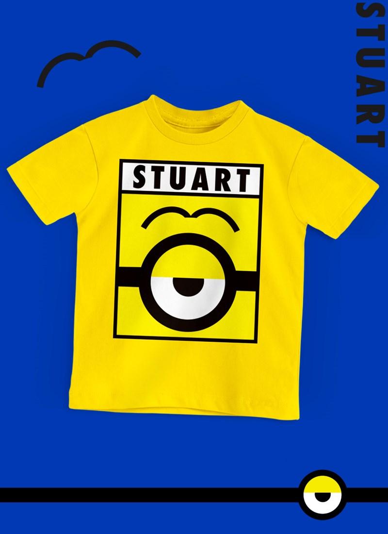 Camiseta Infantil Minions Stuart