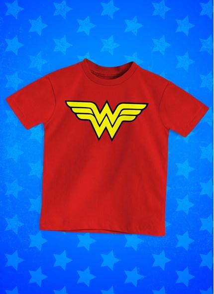 Camiseta Infantil Mulher Maravilha Logo
