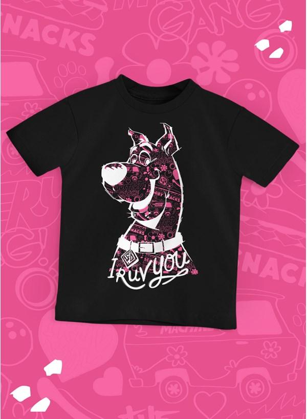 Camiseta Infantil Scooby! I Ruv You