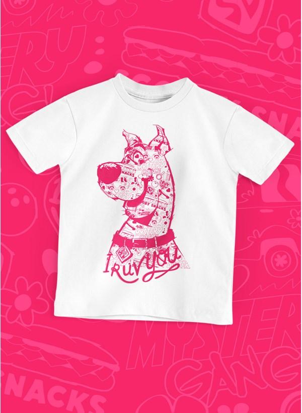 Camiseta Infantil Scooby! I Ruv You Pink