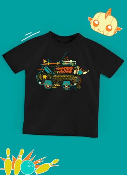 Camiseta Infantil Scooby! Máquina de Mistério Linhas