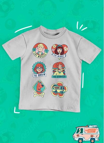 Camiseta Infantil Scooby! Mistério S/A Personagens