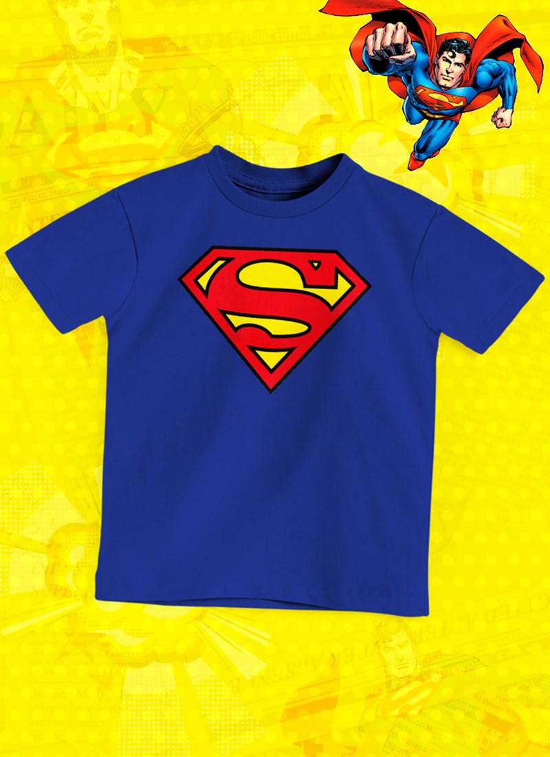 Camiseta Infantil Superman Logo Oficial