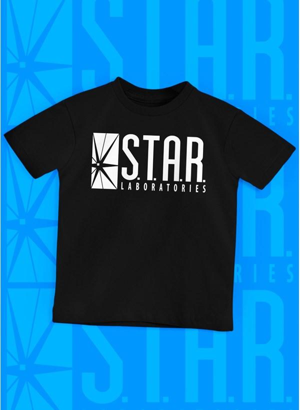 Camiseta Infantil The Flash Série Star Laboratories