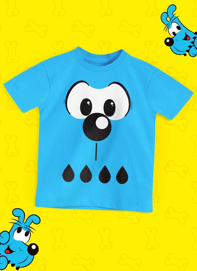 Camiseta Infantil Turma da Mônica Bidu Rostinho