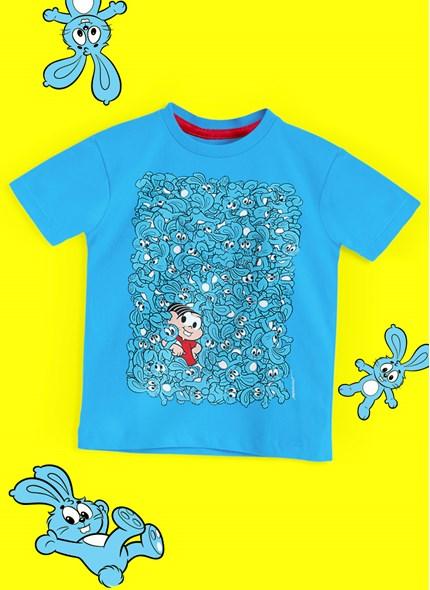 Camiseta Infantil Turma da Mônica Sansão e Mônica