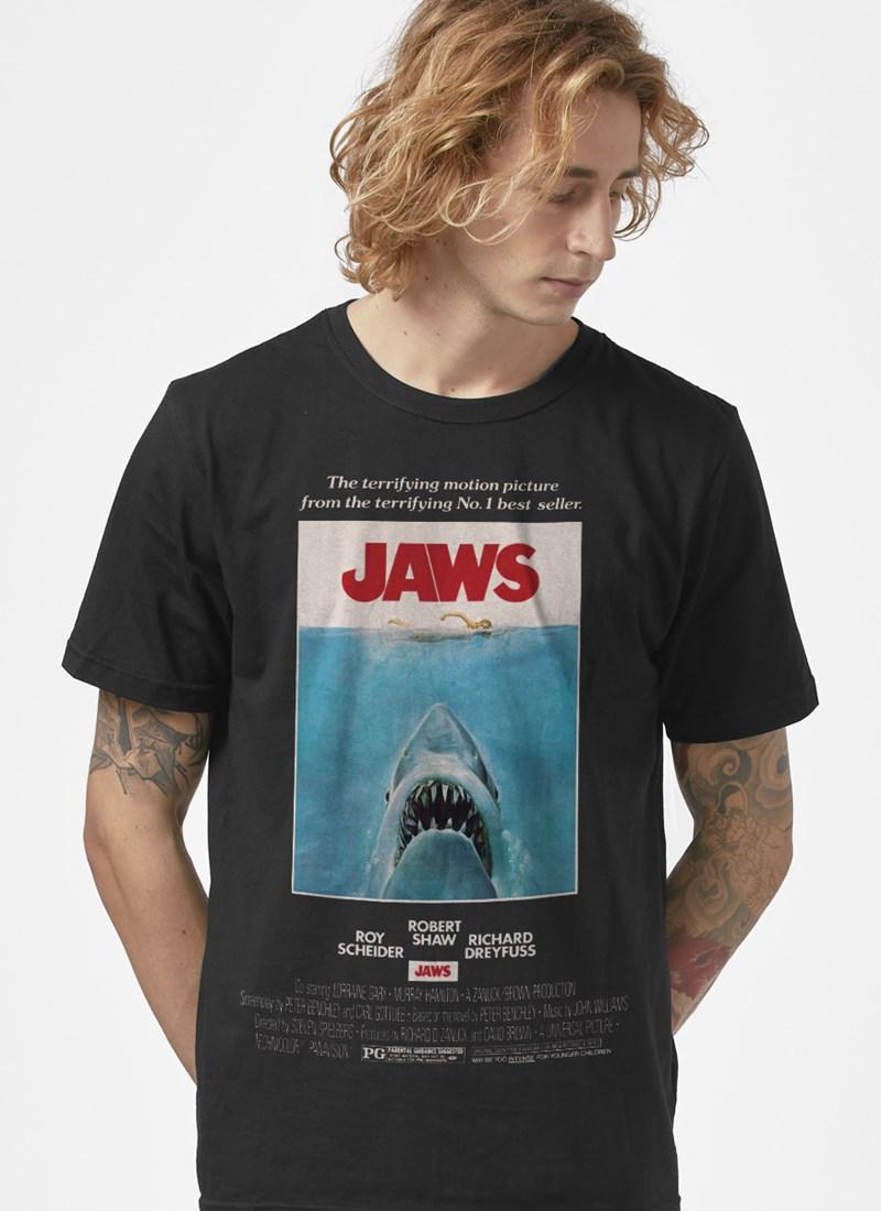Camiseta Jaws Postêr