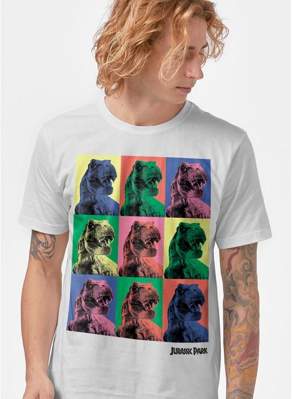 Camiseta Jurassic Park T.Rex Pop Art