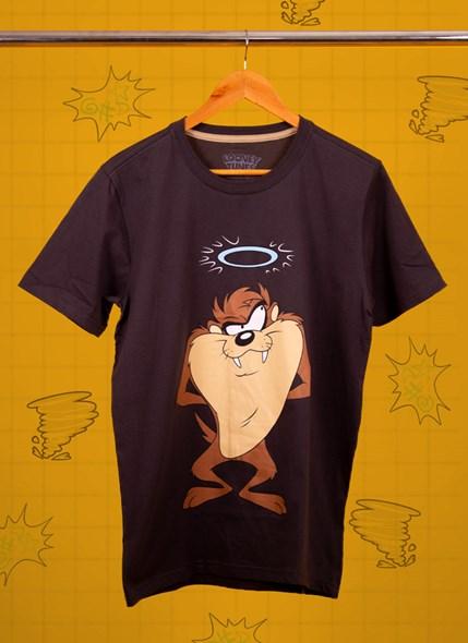 Camiseta Looney Tunes Taz Bom e Mau Humor
