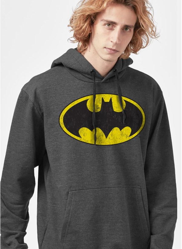 Camiseta Manga Longa Batman Logo Clássico