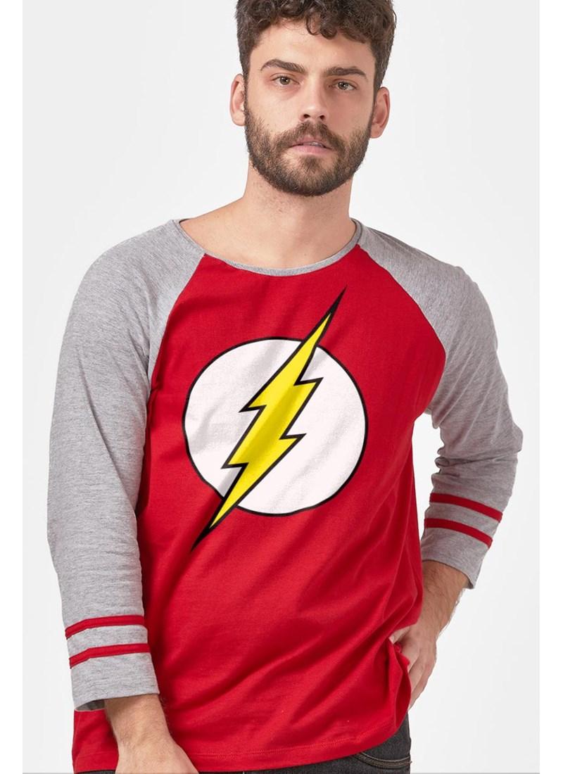 Camiseta Manga Longa The Flash Logo