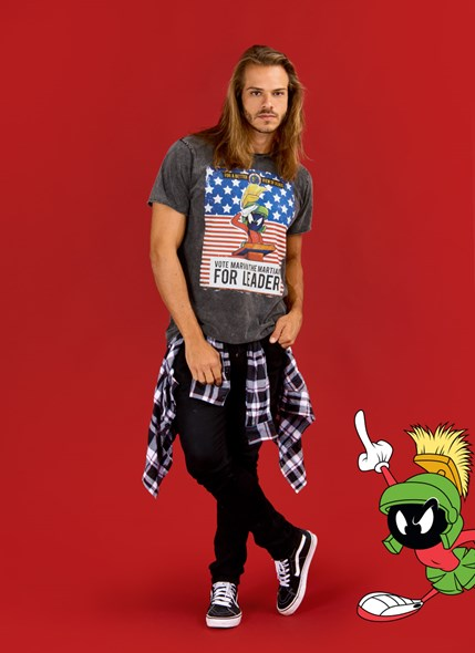 Camiseta Marmorizada Looney Tunes Marvin for Leader