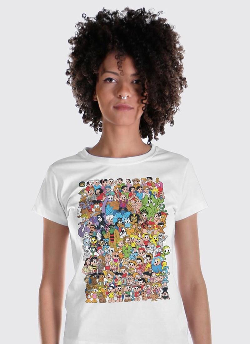 Camiseta Mauricio de Sousa 80 Anos Colors