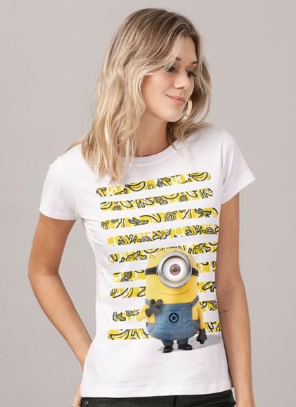 Camiseta Minions Listras de Bananas