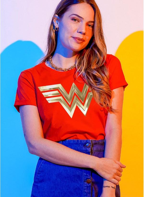 Camiseta Mulher Maravilha 1984 Logo New