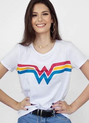 Camiseta Mulher Maravilha Power Logo