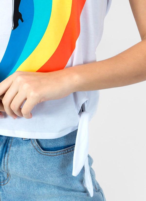 Camiseta Mulher Maravilha Rainbow