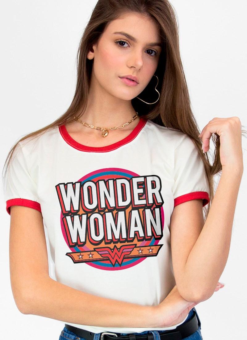 Camiseta Mulher Maravilha Vintage Feminina