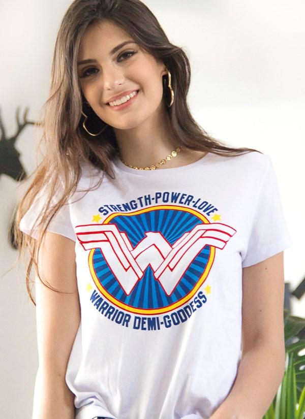 Camiseta Mulher Maravilha Warrior Demi Goddess