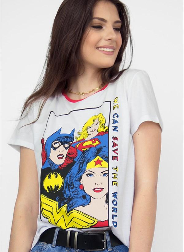 Camiseta Mulher Maravilha We Can Save the World
