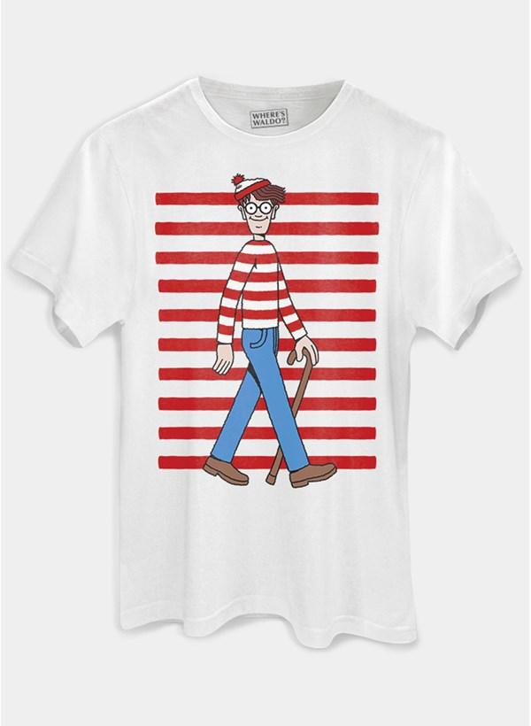Camiseta Onde está Wally? Listras
