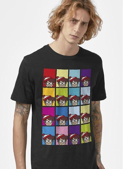Camiseta Onde está Wally? Pop Colors