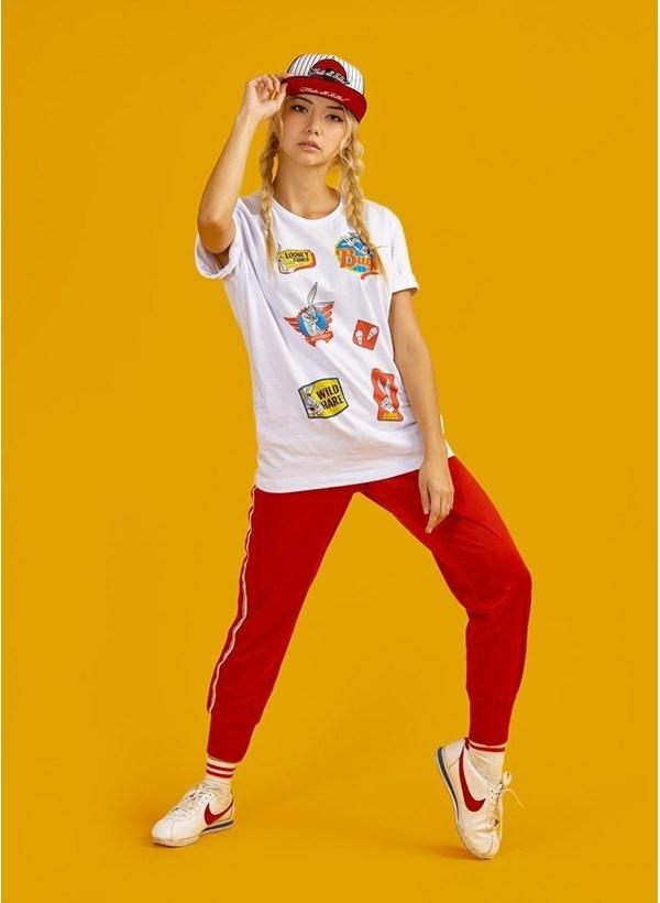 Camiseta Pernalonga Vintage Patch Bunny