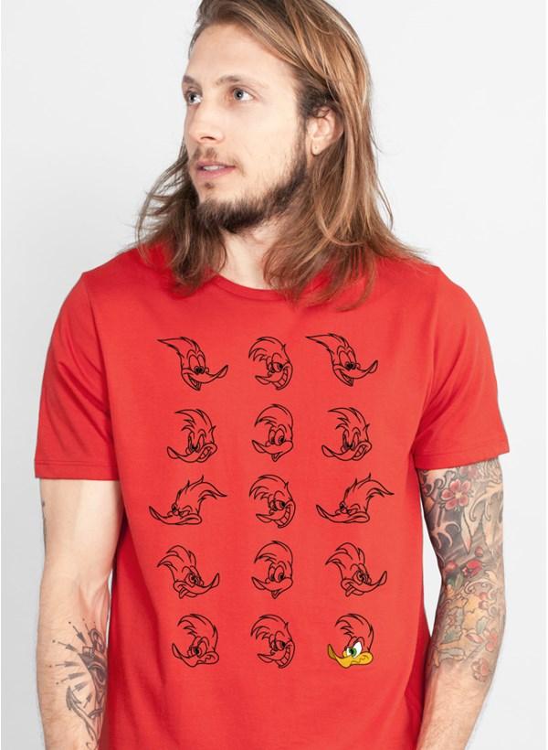 Camiseta Pica Pau Expressions