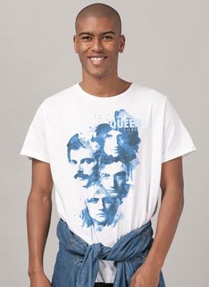Camiseta Queen Blue Faces