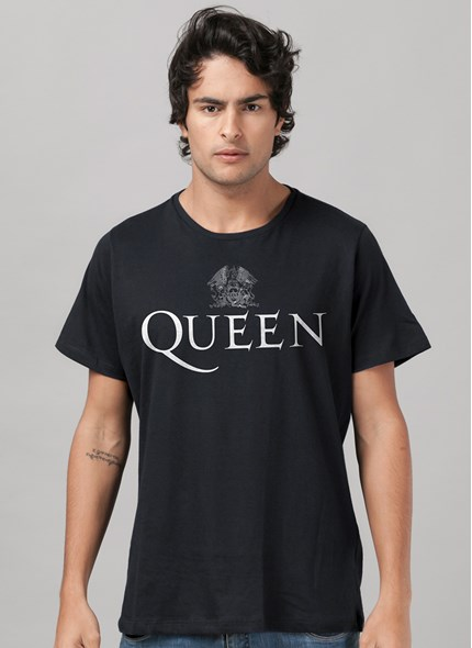 Camiseta Queen Logo Black