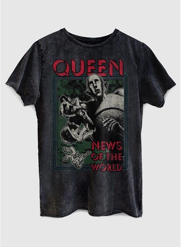 Camiseta Queen News Of The World Capa