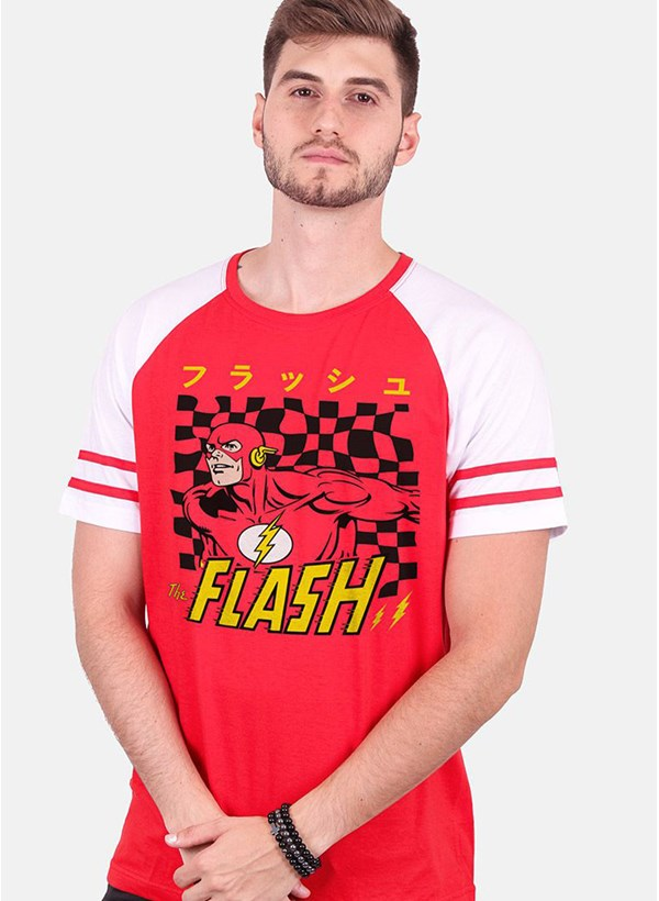 Camiseta Raglan Athletic The Flash Japanese