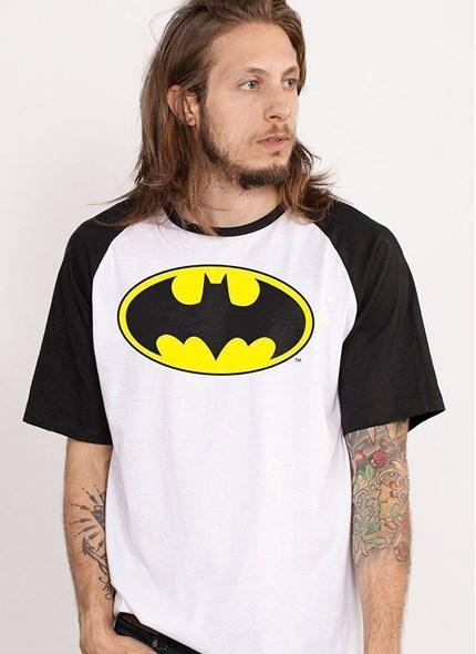 Camiseta Raglan Batman Logo Clássico