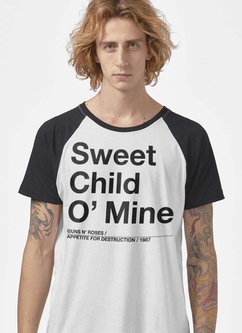 Camiseta Raglan Guns N' Roses Sweet Child O' Mine