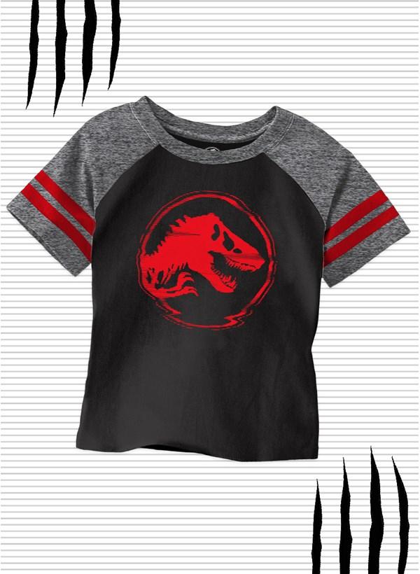 Camiseta Raglan Infantil Jurassic World Dino