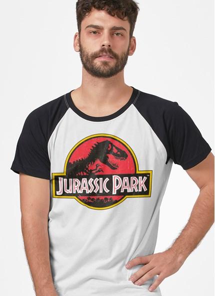 Camiseta Raglan Jurassic Park Logo