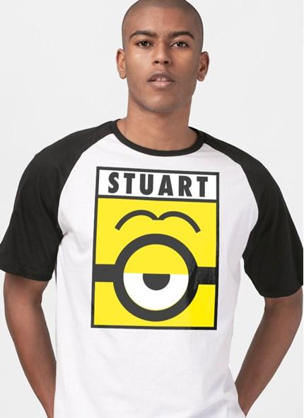 Camiseta Raglan Minions Stuart