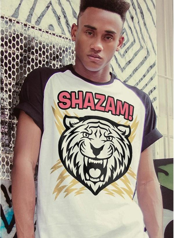 Camiseta Raglan Shazam Tiger