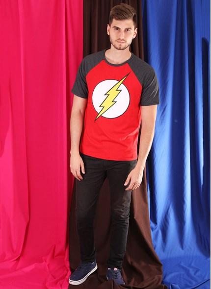 Camiseta Raglan The Flash Logo