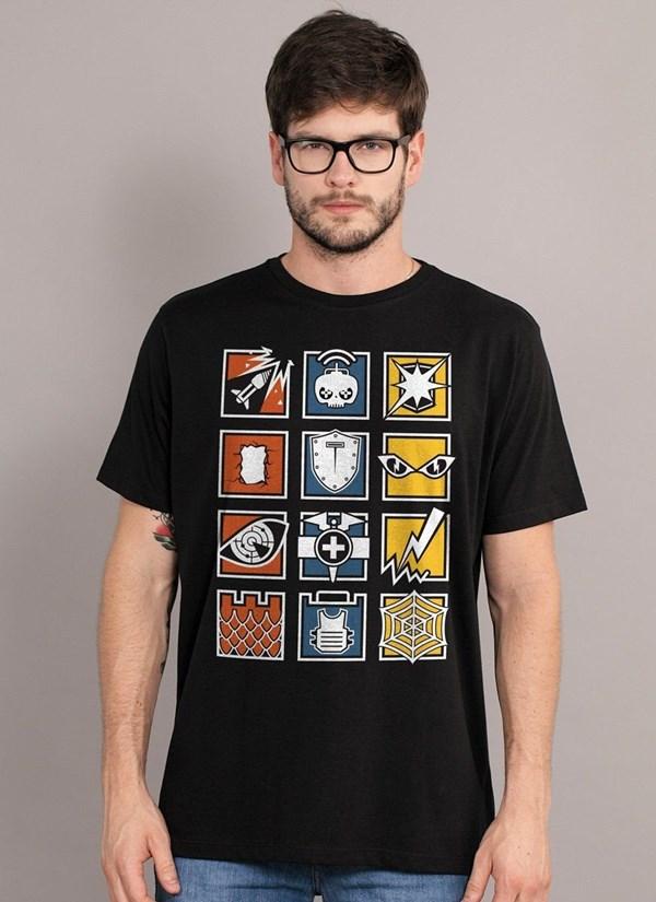 Camiseta Rainbow Six Icons