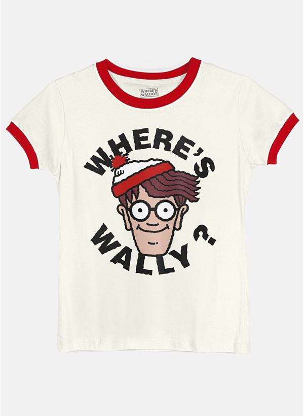 Camiseta Ringer Onde está Wally?