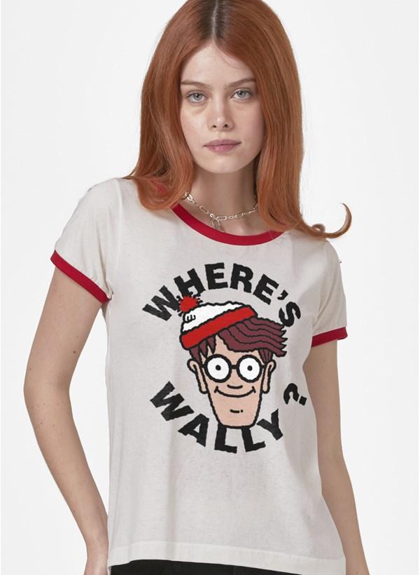 Camiseta Ringer Onde está Wally?