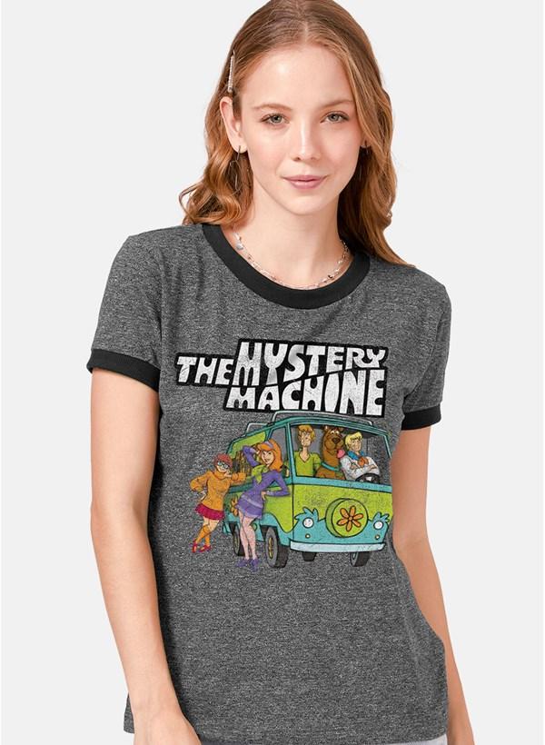 Camiseta Ringer Scooby! Máquina de Mistério Equipe