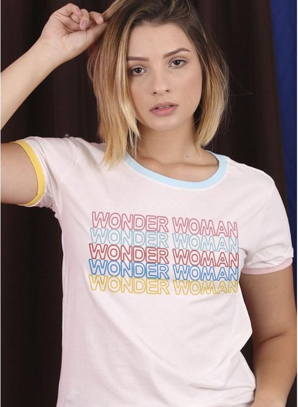 Camiseta Ringer Tricolor Mulher Maravilha
