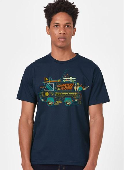Camiseta Scooby! Máquina de Mistério Linhas