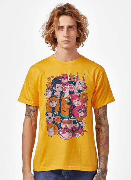 Camiseta Scooby! Personagens Tropicais
