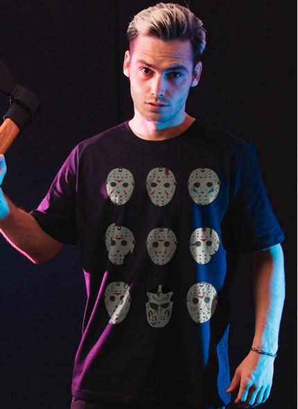 Camiseta Sexta-Feira 13 Jason Máscaras