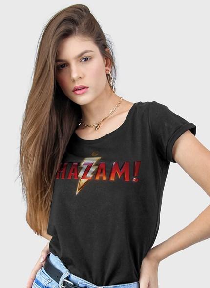 Camiseta Shazam Logo Clássico